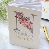 Personalised Notebook - Watercolour Monogram