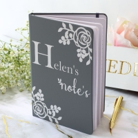 Personalised Notebook - Rose