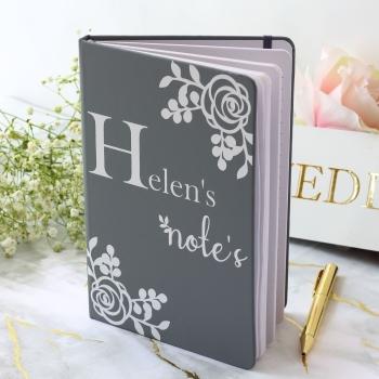 Personalised Notebook - Rose