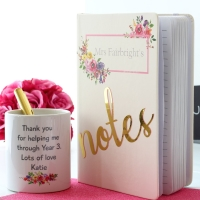 Sweet April - Notebook and pen pot Gift Set