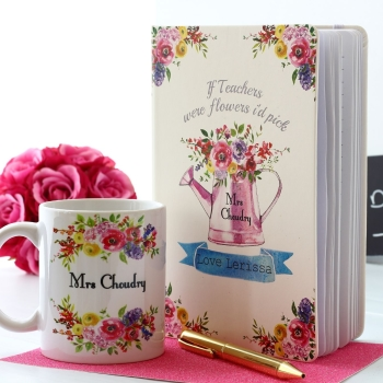 Sweet April - Notebook and Mug Gift Set