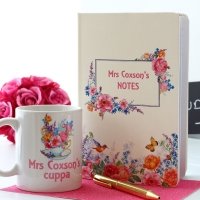 English Rose - Notebook and Mug Gift Set