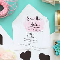 Blush - 10 Magnetic Save The Date Cards