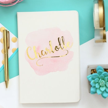 Blush & Gold - Personalised Notebook