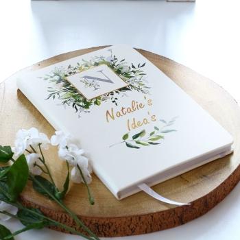 Personalised Notebook - Gold Botanical