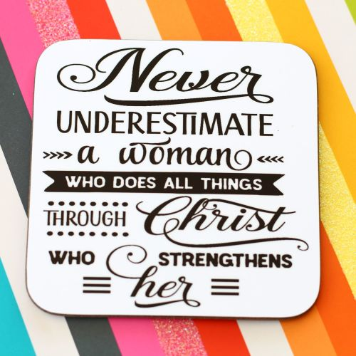 Mini Wood Plaques - Never Underestimate