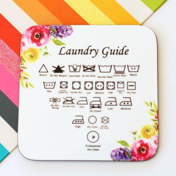 Laundry symbols mini magnetic plaque