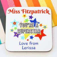 Personalised Coaster - Superstar