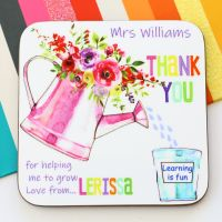 Personalised Coaster - Thank you for helping me grow
