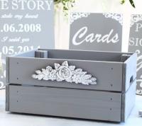 Wooden storage crate - Dove Grey