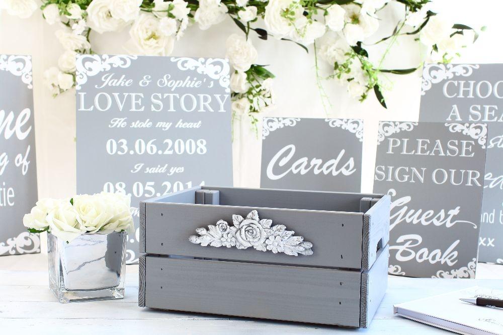 Pine wedding crates