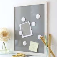 Framed Magnetic noticeboard - in 25 colours and 2 sizes