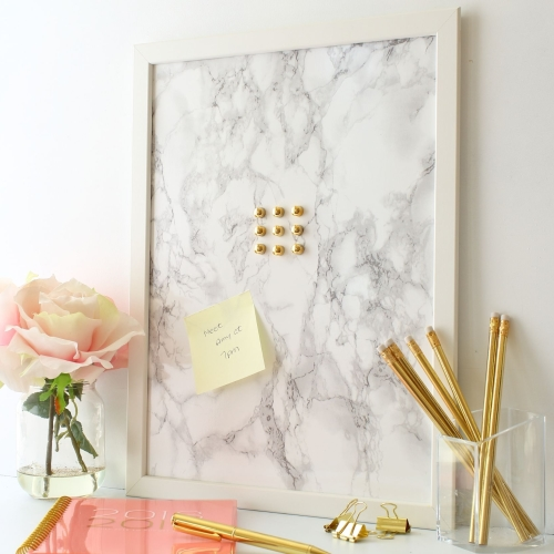 Framed Magnetic noticeboard -Marble effect in 2 sizes