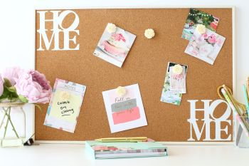 Cork Notice Board - Home & Roses (C1)