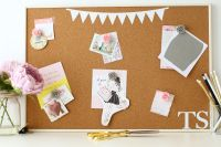 Cork Notice Board -Bunting (C5)