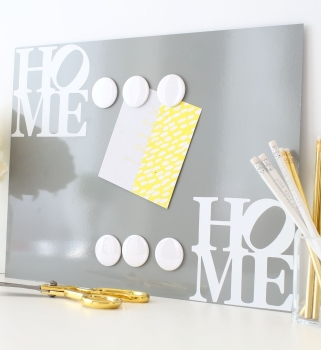 Magnetic notice board wall panel - Home 1.  - 22 colours 3 sizes