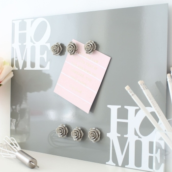 Magnetic notice board wall panel - Home 2.  - 22 colours 3 sizes