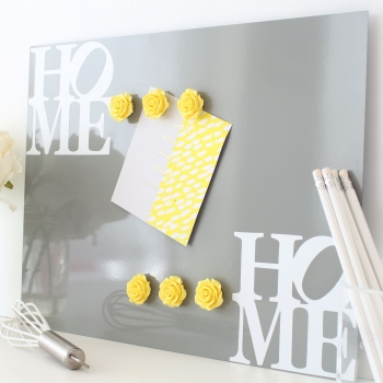 Magnetic notice board wall panel - Home 3. - 22 colours 3 sizes