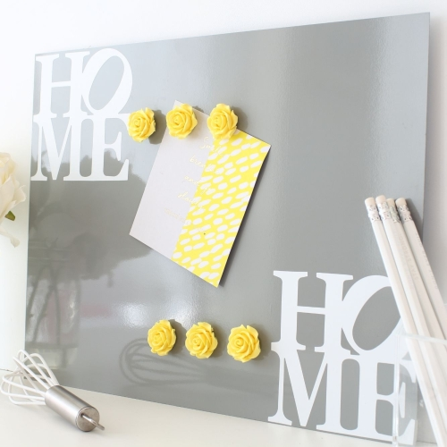 Magnetic notice board wall panel - Home 2.
