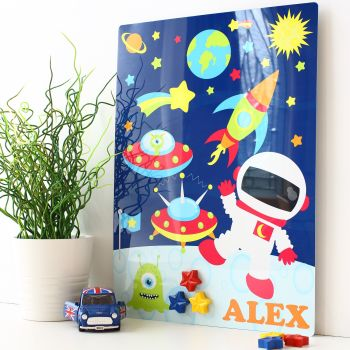 Personalised magnetic notice board - Space mission (D2)