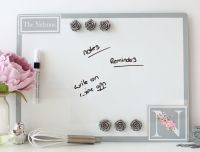 Personalised dry erase magnetic notice board - Serenity (D3)