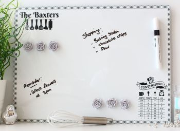 Personalised dry erase magnetic notice board - Bake-Off (D6)
