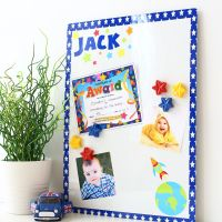 Personalised magnetic notice board - Space mission 2 (D11)