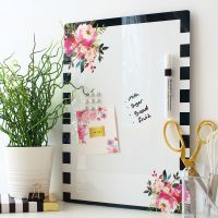 Dry erase magnetic notice board - Boudoir (D12)
