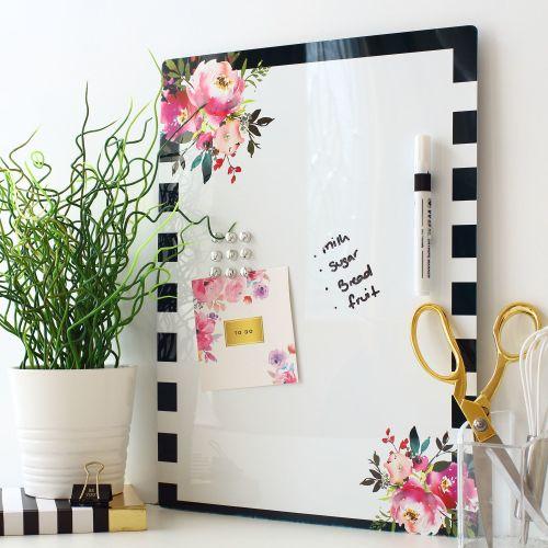 Dry erase magnetic notice board - Lavender (D10)
