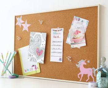 Cork Notice Board -Unicorn (C6)