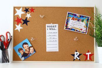 Cork Notice Board -Stars (C7)