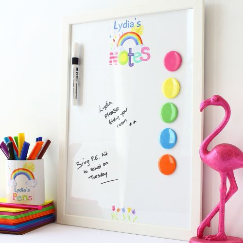 Framed dry erase magnetic notice board - Monogram