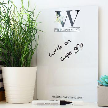 A4 or A3 Wall/Fridge Whiteboard & pen - D12