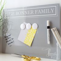 Dry erase magnetic notice board - Chateau (D18)