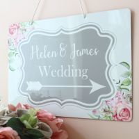 <!-- 200 -->Delicate Florals - A4 Directional Sign