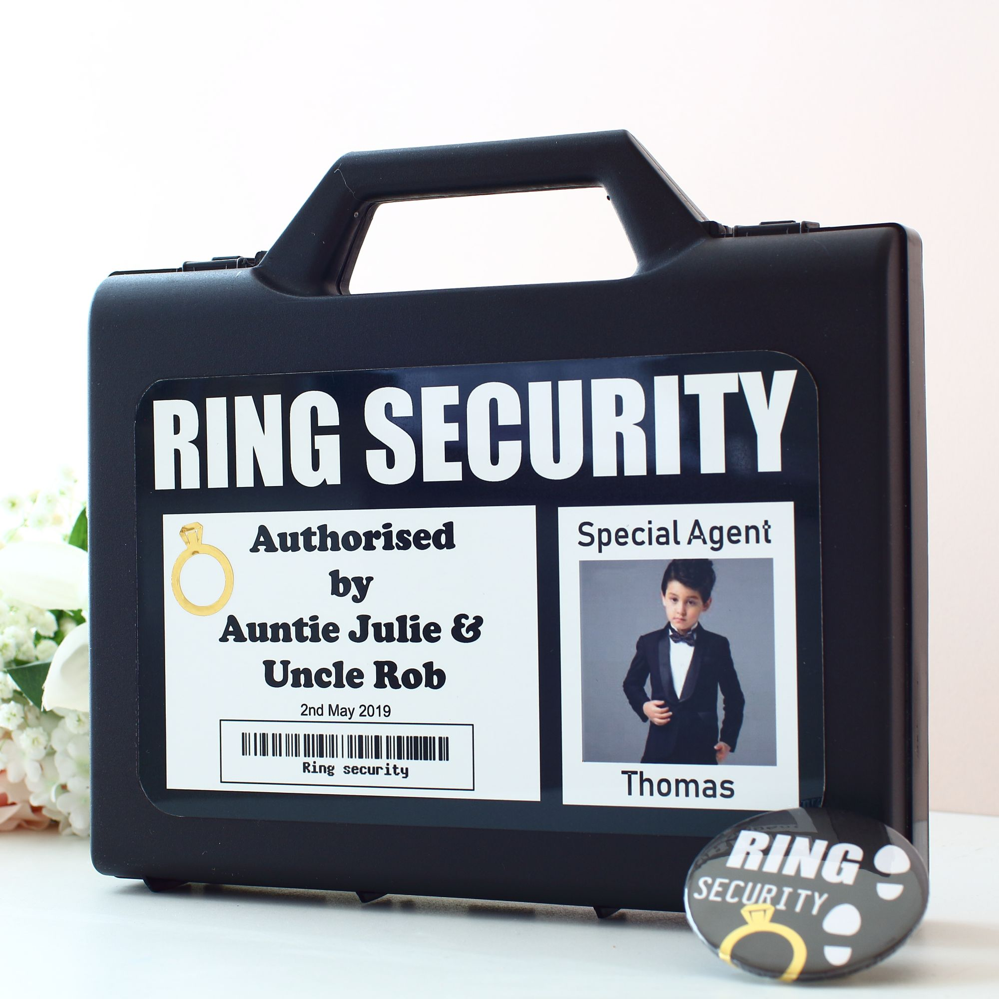 Wedding Ring Security Page Boy