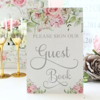 <!-- 024 -->Delicate Florals -Please Sign our Guest Book