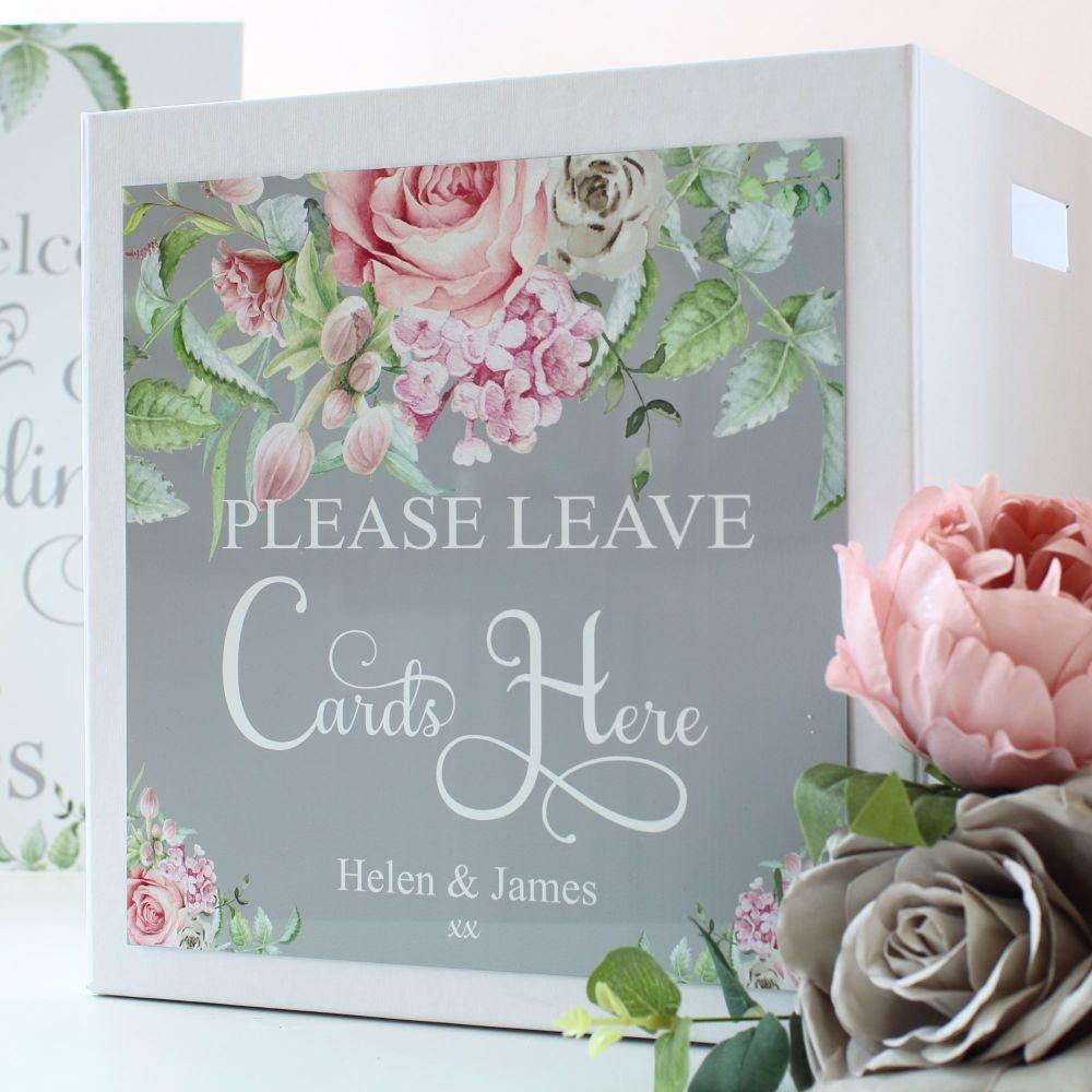 Delicate Florals - Wedding Card Box