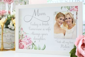 Delicate Florals - Large Personalised Frame
