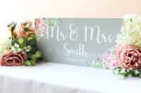 <!-- 019 -->Delicate Florals - Top Table Sign