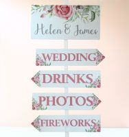 <!-- 012 -->Delicate Florals - Wedding Arrow &amp; Header
