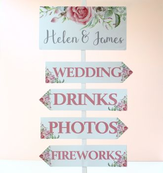 Delicate Florals - Wedding Arrow & Header
