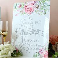 <!-- 187 -->Delicate Florals - Freestanding Wedding Memorial Sign