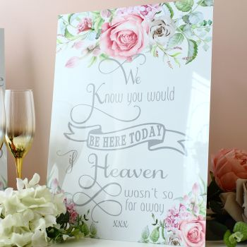 Delicate Florals - Freestanding Wedding Memorial Sign