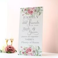 <!-- 006 -->Delicate Florals - Extra Tall Sign - Family &amp; Friends