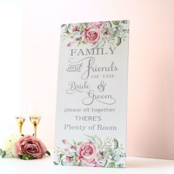 Delicate Florals - Extra Tall Sign - Family & Friends