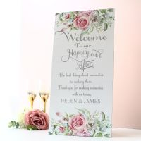 <!-- 005 -->Delicate Florals - Extra Tall Sign - Welcome