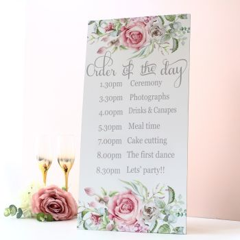 Delicate Florals - Extra Tall Sign - Order of the Day