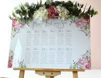 <!-- 002 -->Delicate Florals - Easel Sign - Seating Plan
