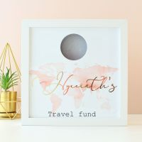 Gifts for Her - Personalised Travel Fund Money Box